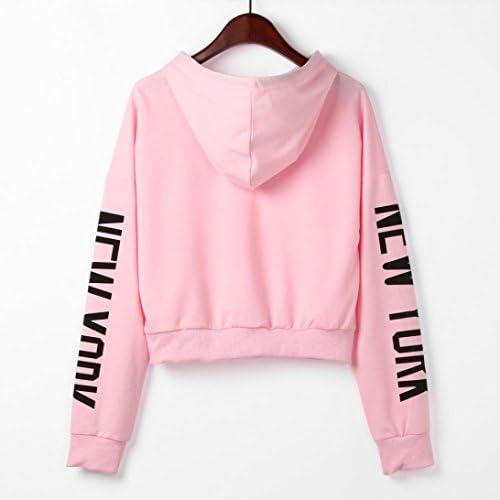 Anxinke Women Fashion Letter Printed Long Sleeve Cold Shoulder O Neck Sweatshirts Tops