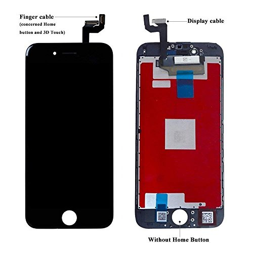 QTlier For iPhone 6S Retina LCD Touch Display Replacement Screen With Digitizer Assembly Free Tools(Black) by QTlier (Image #1)