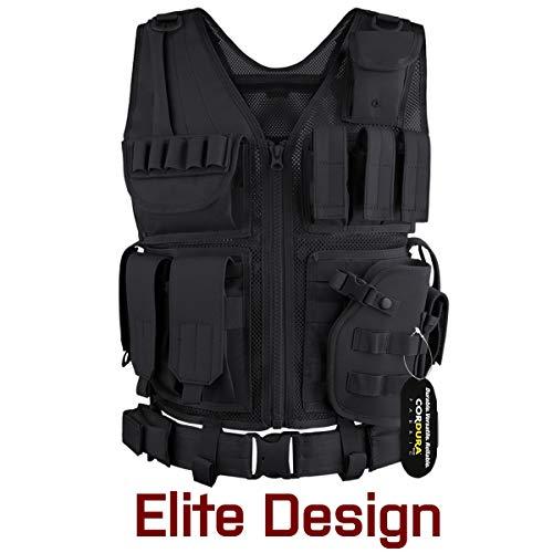 GLORYFIRE Tactical Vest Airsoft Tactical Vest 1000D Cordura Fabric Detachable