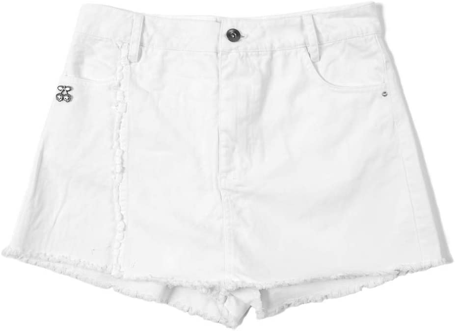 PACHA - Falda Pantalón Mini Sexy Party Blanca para Mujer: Amazon ...