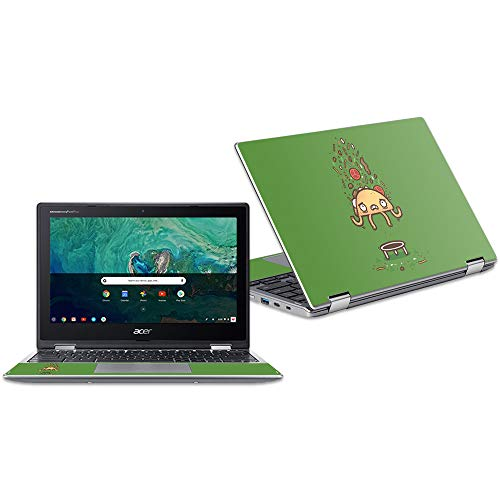 """Price comparison product image MightySkins Skin Compatible with Acer Chromebook Spin 11"""" CP311 - Taco Trampoline / Protective,  Durable,  and Unique Vinyl Decal wrap Cover / Easy to Apply,  Remove,  and Change Styles / Made in The USA"""