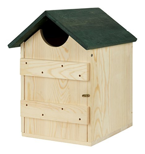 Bee Proof Suits Wooden Owl House Nesting Box for Owls Bird ()