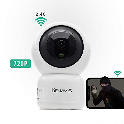 WiFi Security Camera 720P, PT Auto Tracking, Wireless HD, Motion and Sound Detection Cloud Storage, Surveillance CCTV IP Network Cam Systems