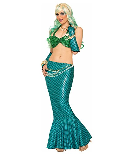 Blue Mermaid Long Tail Skirt Standard (Mermaid Costume Skirts)