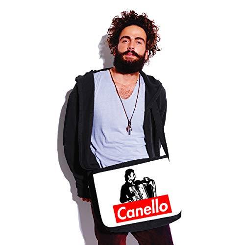 90 Bianco Trash Bubbleshirt Cult Canello Borsa Parodia Tracolla 80 Anni Fantozzi A Film Humor wAqHTAS0