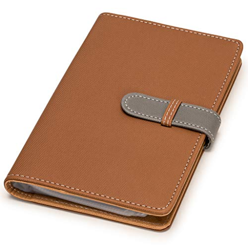 Nicely Neat Leatherette Business Card/Credit Card Organizer (Golden Brown) - Holds Up to 240 Cards - Top Grade Synthetic Leather