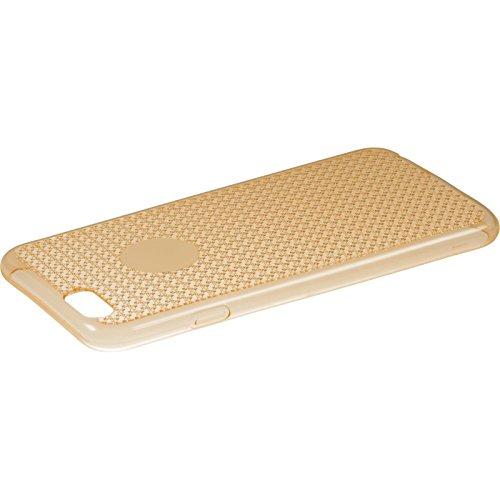 PhoneNatic Case für Apple iPhone 5 / 5s / SE Hülle Silikon gold Iced Cover iPhone 5 / 5s / SE Tasche + 2 Schutzfolien