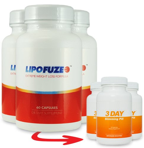 Lipofuze 3 Bottles and 3 Free 3 DSP - Best Fat Burner - Fat Burner Pill and Metabolism Booster - Best Fat Burner 2013 and Metabolism Miracle by Lipofuze