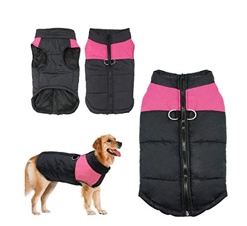 (YIXIA Dog Winter Coat Vest Waterproof Jacket Down Vest Warm Lined Breastplate Dog Puppy Clothes Vest Suitable for Small Medium Large Dog (L (Neck:13.96