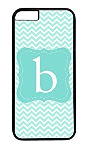 New Style Aqua Chevron Backgrounds With Initials B Polycarbonate Hard Case Protective Cell Phone Cover For Case Samsung Galaxy Note 2 N7100 Cover - PC Black