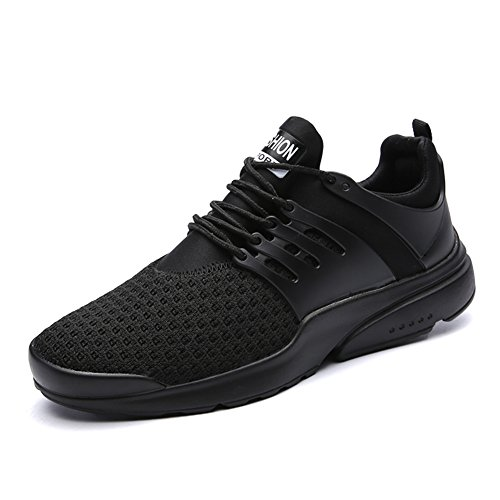 Leader Show Men's Casual Breathable Sports Shoe Athletic Lace Up Fashion Sneakers (11, Black)