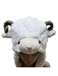 TopTie Soft Animal Hat With Ear Flap, Furry Animal Hood Cap
