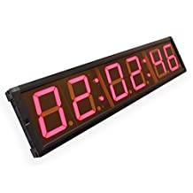 """EU 4"""" 6 Digits led timer clock with countdown/up stopwatch real time colock"""