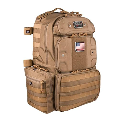 G.P.S Tactical Range Backpack, Tall, Tan