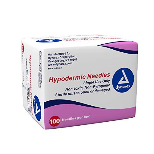 Dynarex 6973 Hypodermic Needle, 25G, 1-1/2
