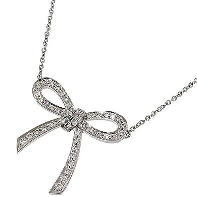 san francisco 03b56 91e59 Amazon | (ティファニー)Tiffany ボウ リボン ダイヤ ネックレス ...