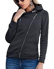 WBYFDC Vrouwen Rits Hooded Jacket Plus Fluwelen Sport Casual Herfst Winter Uitloper