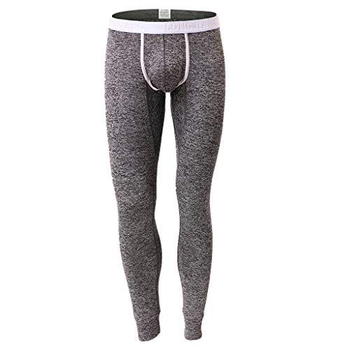 Alalaso Thermal Underwear for Men, Men's Classics Midweight Thermal Underwear Bottoms Black ()
