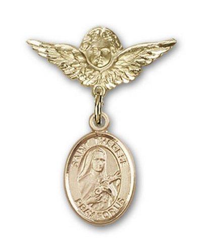 Icecarats Or Bijoux De Créateurs Rempli R. Thérèse De Lisieux Charme Ange Broche De Badge 1 X 3/4