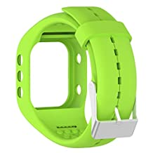 Efitty Replacement Soft Silicone Band Rubber Watch Band Strap For Polar A300 Fitness Watch (Green)