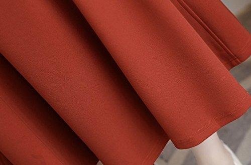 bc9b90011916f  グランローバ  フレア フォーマル ワンピース クルーネック ブラック 無地 膝丈 背中 ジップ 半袖 長袖