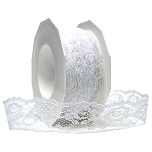 Morex Ribbon Lace Ribbon, 1-3/8 by 20-Inch, - Ribbon Morex Lace