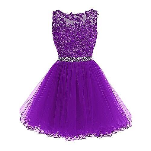 Dark Purple Short Prom Dress: Amazon.com