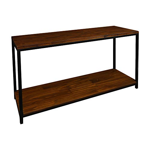 Casual Home Metro Console Table with Black Frame, Mocha