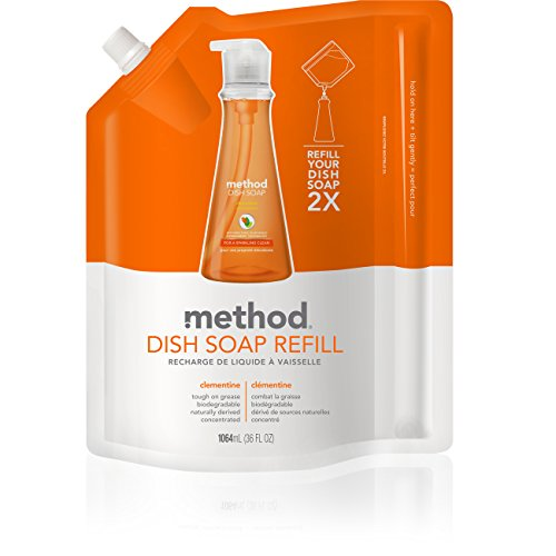 - Method Dish Soap Refill, Clementine, 36 Ounce