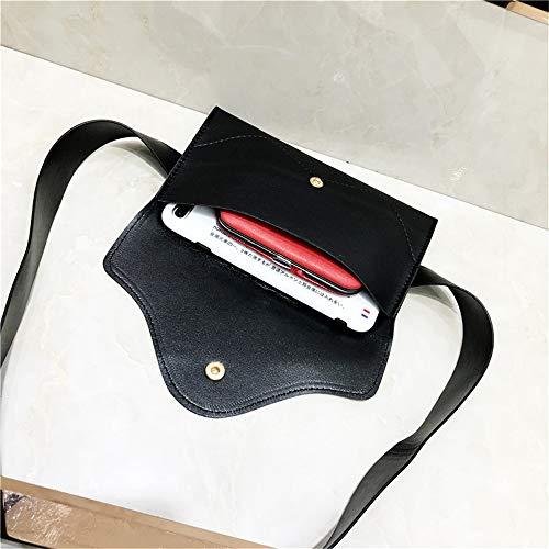 Piccola Rimovibile Pelle Cinturino Mini Con Donna Da Cintura Cellulare Marsupio Pu Borsa Nero Pacchetto In Yocobo Incrociato Vita Viaggio 7BH5w