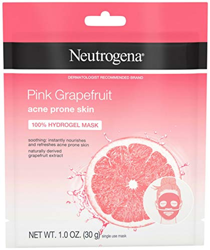 Neutrogena Pink Grapefruit 100% Hydrogel Face Mask Acne Pron