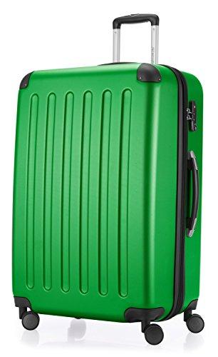 HAUPTSTADTKOFFER - Spree - Hartschalen-Koffer Koffer Trolley Rollkoffer Reisekoffer Erweiterbar, 4 Rollen, TSA, 75 cm, 119 Liter, Grün