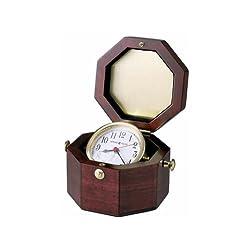 Howard Miller 645-187 Chronometer Weather & Maritime Table Clock by Howard Miller
