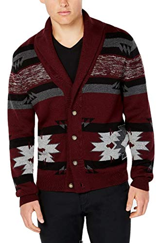 (American Rag Men's Drifter Sweater Shawl-Collar Cardigan (Size: Small) Red)