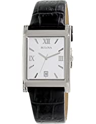 Bulova Mens 96B107 Strap Silver Dial Watch