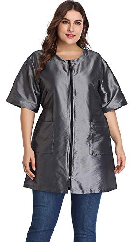 (Hair Stylist Grooming Smocks for Women, Barber Apron Jacket Vest for Hair Salon, Dog Groomers, Nail Tech, Massage Therapist, Esthetician )