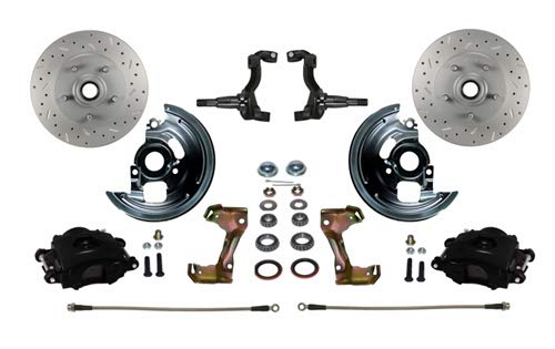 Spindle Stock Brake Disc Front (Leed Brakes BFC1006-FA1X Front Disc Brake Kit w/Stock Height Spindles GM Chevy I)