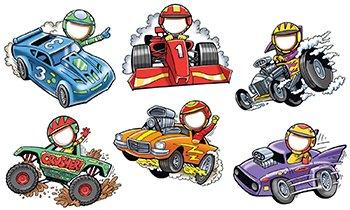 EDUPRESS EP-2752 RACE CARS MY FACE ACCENTS