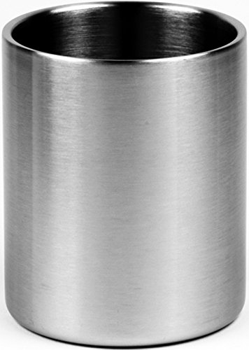 Lancaster Glass Accessory - Stainless Whiskey Old Fashioned Glass - Double Walled - 10oz Lowball by Lancaster Steel