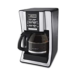 Mr. Coffee BVMC-SJX33GT 12-Cup Programmable Coffeemaker, Chrome by Mr. Coffee
