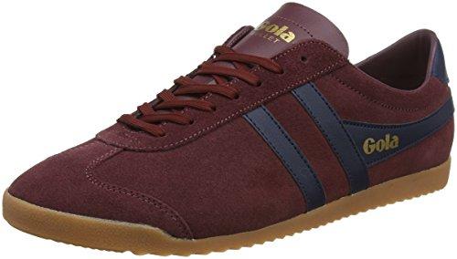 Gola Men's Bullet Suede Sneakers | Burgundy/Navy/Gum - Red - 9