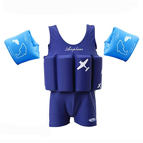 - Anbaby Boys' Adjustable Buoyancy Swimsuits Flotation Swimsuit for Baby Boys 90 Blue Plane