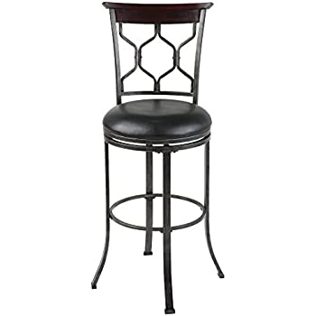 Amazon Com Austin Metal Counter Stool With Black