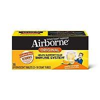 Airborne emKiQS Tablets 1000mg of Vitamin C, Zesty Orange Effervescent, 36 Count
