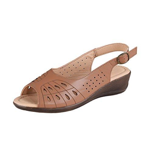HSM Schuhmarketing - Sandalias de vestir de Material Sintético para mujer marrón marrón marrón