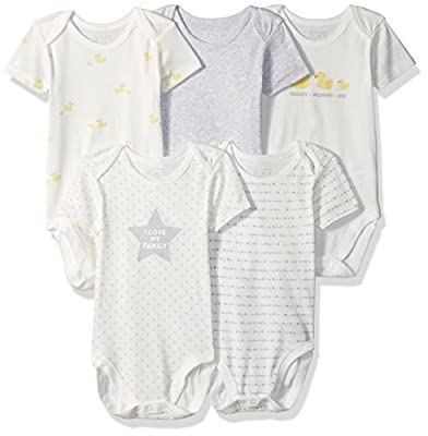 The Children's Place Unisex-Baby' Printed Bodysuits (Pack of 5)