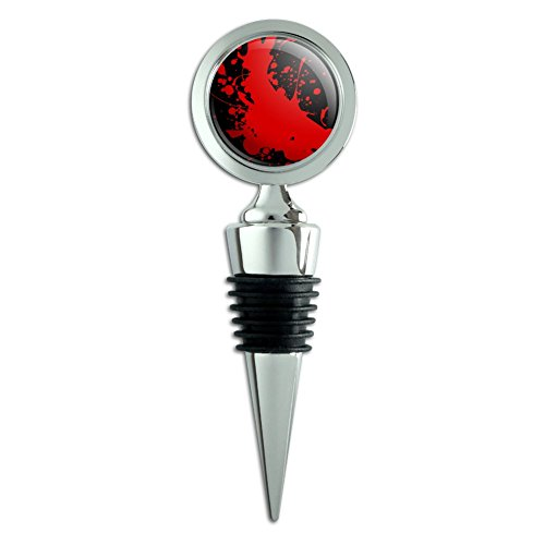 Blood Splatter Classic Horror Movie Halloween Wine Bottle Stopper ()