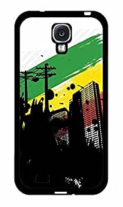 City with Rasta Flag Background 2-Piece Dual Layer Phone Case Back Cover Samsung Galaxy S4 I9500