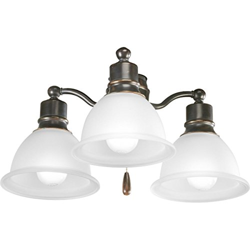 - Progress Lighting P2623-20WB Fan Light Kit, Antique Bronze