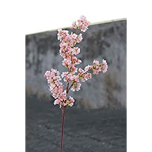 Ahvoler Artificial Cherry Blossom Branches Flowers Stems Silk Tall Fake Flower Arrangements Home Wedding Decoration,39 Inch 5